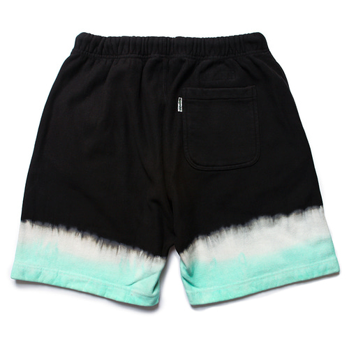 Stripe Tie-dye Sweat Shorts