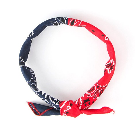 HAV A HANK Splits Bandana Navy & Red