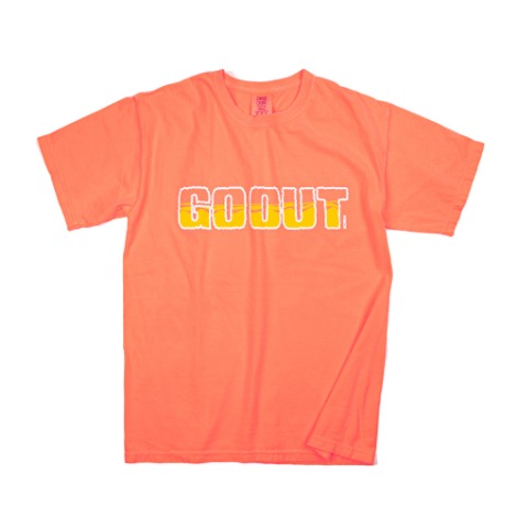 Ocean LogoGARMENT DYEING S/S T-Shirts(Neon Orange) 30% OFF